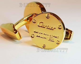 CARTIER CUFFLINKS in Classic Yellow Gold Plated