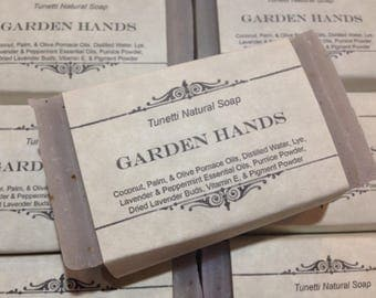 Garden Hands Natural Homemade Soap, Handmade soap, Natural Soap, Cold Process Lye Soap