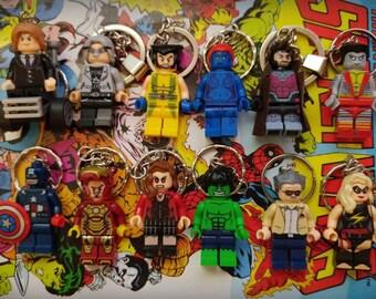 Minifigure Keychains - Marvel