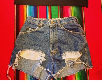Vintage 1980's-90's High Waisted Lee Cutoff Shorts