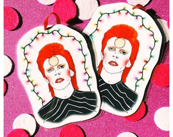 David Bowie Christmas Lights -  Christmas Tree Decoration