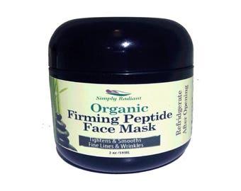 Organic Skin Care, Firming Peptide Super Face Mask (All Natural Skin Care) Anti-Aging