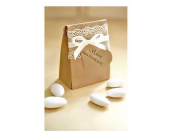 Gifts to wedding - vintage - cardboard Brown