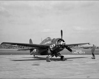 Poster, Many Sizes Available; Navy Grumman General Motors Fm-2 Wildcat Langley 1945