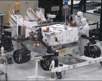 Poster, Many Sizes Available; Mars Rover Curiosity Assembly, The Centerpiece Of Nasa'S Mars Science Laboratory Mission