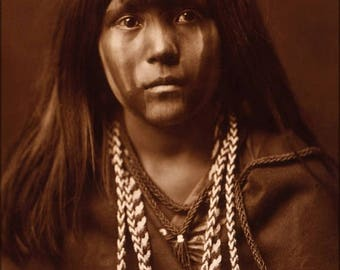 40% OFF SALE Poster, Many Sizes Available; Mojave Girl Native American Indian Girl 1903