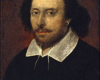 40% OFF SALE Poster, Many Sizes Available; William Shakespeare Chandos Portrait