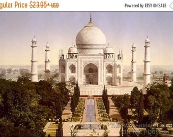 20% Off Sale - Poster, Many Sizes Available; Taj Mahal Agra India C1900 Photochrom