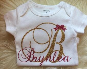 Monogram Infant Onesie, Personalized Infant Onesie, Infant Onesie