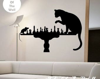 Cats Wall Decal Sticker Art Decor Bedroom Design Mural cute