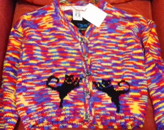 Hand knitted cardigan to fit a child aged 6-7 years old