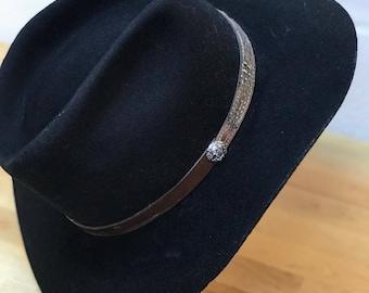 Black Country western hat / cowboy hat / cowgirl hat / vintage southwestern hat