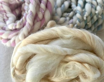 Yarn pack 10 - 55g hand dyed, hand spun yarn tasters