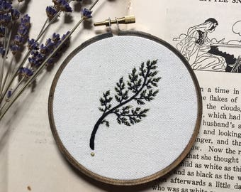 Four Inch Fern Embroidery