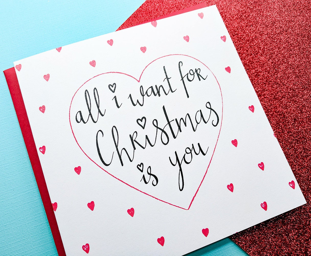 All i want for christmas card romantic girlfriend christmas all i want for christmas card romantic girlfriend christmas cardboyfriend christmas card kristyandbryce Choice Image