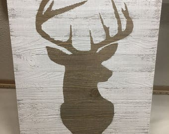 Deer Wood Sign, Buck Wood Sign, Country Wood Sign, Rustic Wood Sign, Baby Nursery Sign, Hunting Wood Sign, Old Barn Wood Sign, Handmade Sign