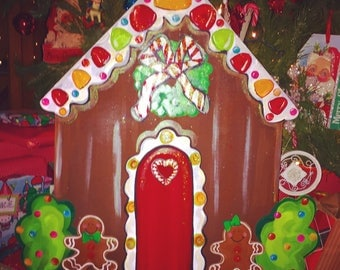 Gingerbread house door hanger