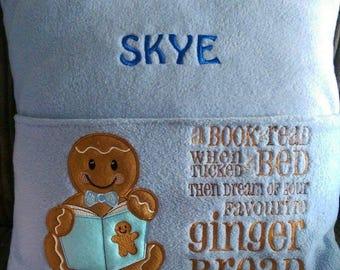 Gingerbread Boy Reading Cushion