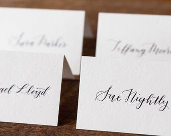 Wedding Place Cards & Escort Cards | Guest Seating Chart | Wedding Calligraphy | Wedding Seating Cards | Custom Calligraphy | Hand Lettered