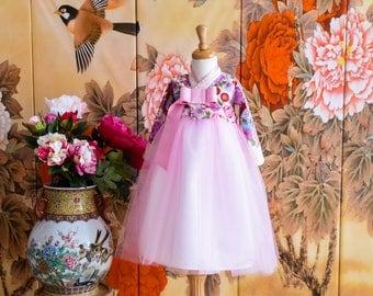 Hanbok for baby giri Korean Traditional Wedding Dress pink tutu