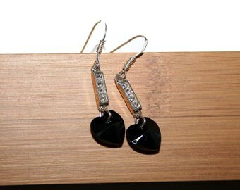 Special St. Valentine's day hearts modern earrings