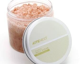Exfoliating Body Salt Scrub, Himalayan Salt with Avocado Oil, Vitamin E and Coconut Oil.