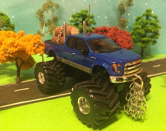 FORD, F350, 1/64, Custom Lifted, Dual Stack Pipes, Front & Rear Logging Chains