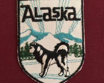 Alaska Vintage Souvenir Travel Patch from Baxter Lane