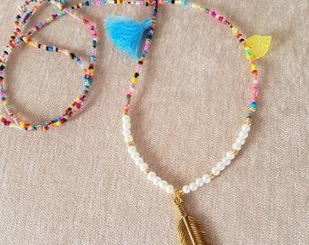 Multicolors long necklace