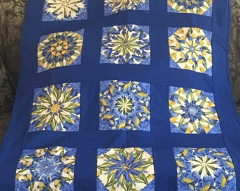 Iris Bloom Kaleidoscope Quilt