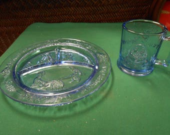 TIARA Divided Dish & Cup