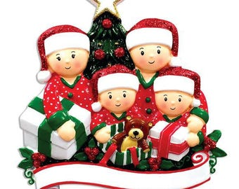 Personalized Opening Gifts Family of 4 Ornament