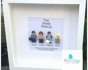 Personalised lego family frame