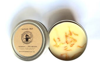 Calendula Lotion Bar, Organic Lotion Bar, unscented lotion bar, lotion bar, sensitive skin lotion, skin conditions, scars, eczema