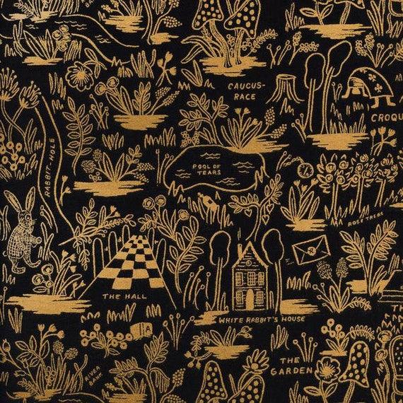 Boppy Cover >> Rifle Paper Co. Wonderland Magic Forest in Midnight >> Boppy Newborn Lounger Nursing Pillow > MADE-to-ORDER alice boppy, gold