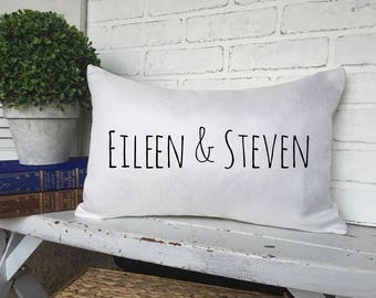 PERSONALIZED COUPLE PILLOW,Name Couple Pillow,Name Throw Pillow,Couple Gift Idea,Couple Wedding Gift