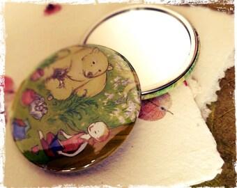 "Pocket mirror illustrated by the artist: ""literary taste"""