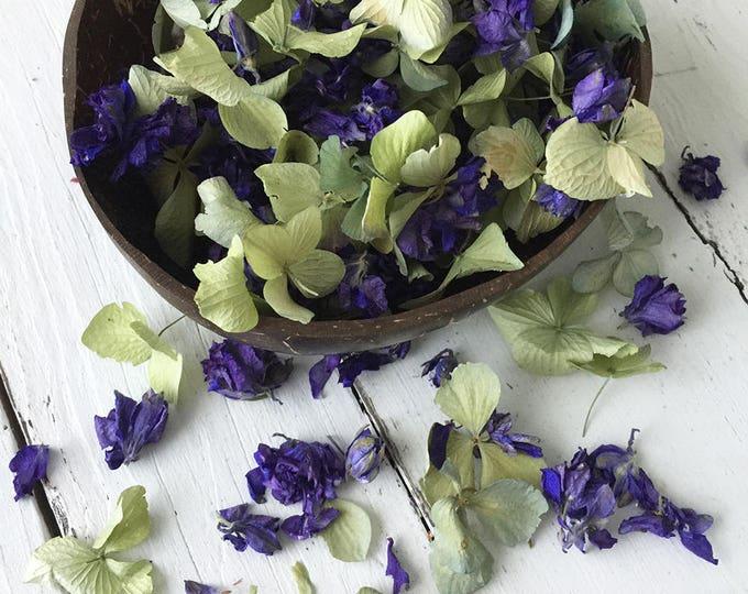 Natural Flower Petal Confetti / Biodegradable / Dye Free / Petal Blend G