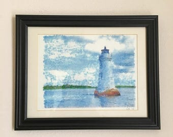Lighthouse and The Sea- Original