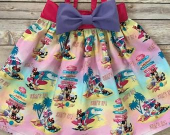 Minnie and Daisy Bow Dress, Minnie Mouse Dress, Daisy Duck Dress, Beach Dress