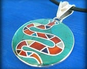snake necklace peruvian jewelry amazonian art ayahuasca necklace healer gift from peru snake pendant shaman jewelry ayahuasca cerimony gift