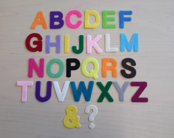 Capital Alphabet Letters. Ideal for Bunting, Felt, Die Cut