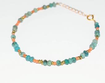 RIO Bracelet chrysocolla and coral