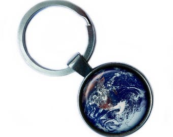 NASA Photograph Earth Wonder Keychain Keyring