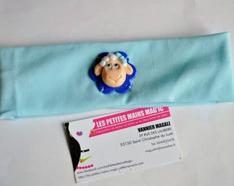 Greenhouse head hair band blue with sheep