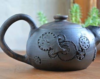 Ceramic tea pot, Stoneware Teapot,  Ceramic Tea Maker, Pottery Kettle
