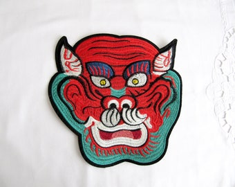 Iron On Fighter Tiger Patch,Tiger face Applique,LP Pern Wat Bang Tiger Face,Iron On Tiger Head