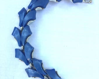 Vintage Blue Thermoset Bracelet