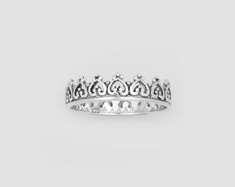 PREORDER!! 50% Off  CROWN silver ring