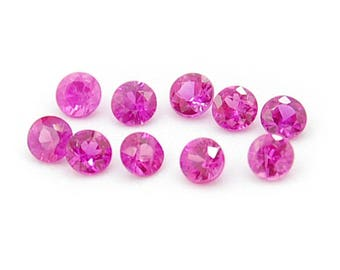 Ruby natural stones round 2.5 mm 10 pieces 0.7 carat